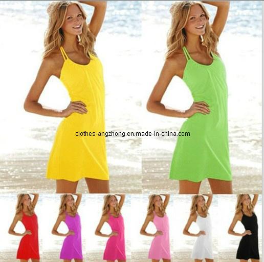 Vestidos De Baño Estilo Halter:El traje de baño atractivo de la falda del bikiní del vestido de las