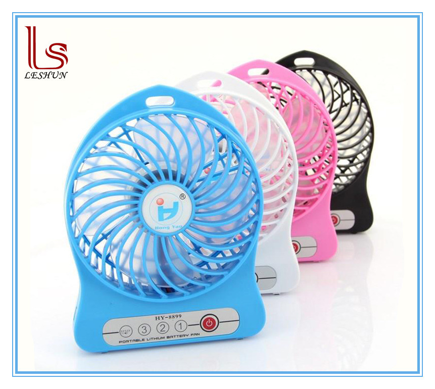 USB Portable Mini Phone Rechargeable Fan with LED Lamp