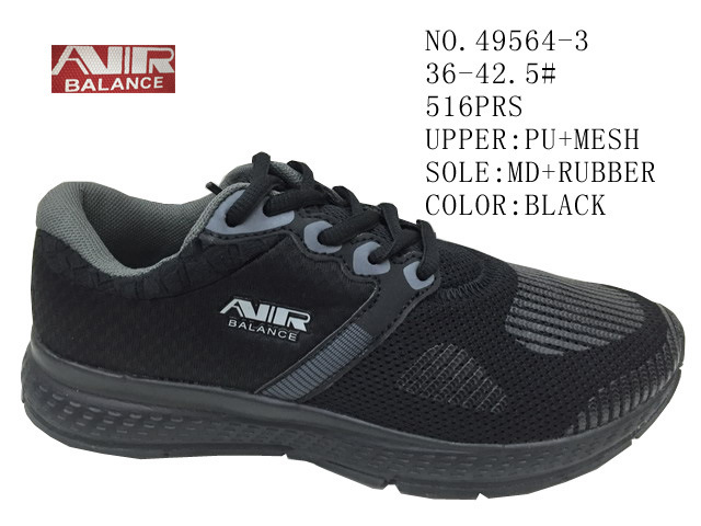 No. 49564 Lace up Women Stock Sport Shoes