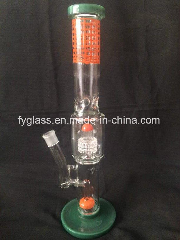 Multi Color Glass Water Pipe with Color Matrix Perc