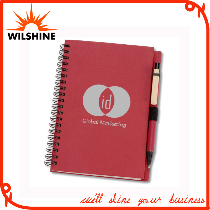Hardcover Paper Notebook with Pen for Company Advertising (SNB124)