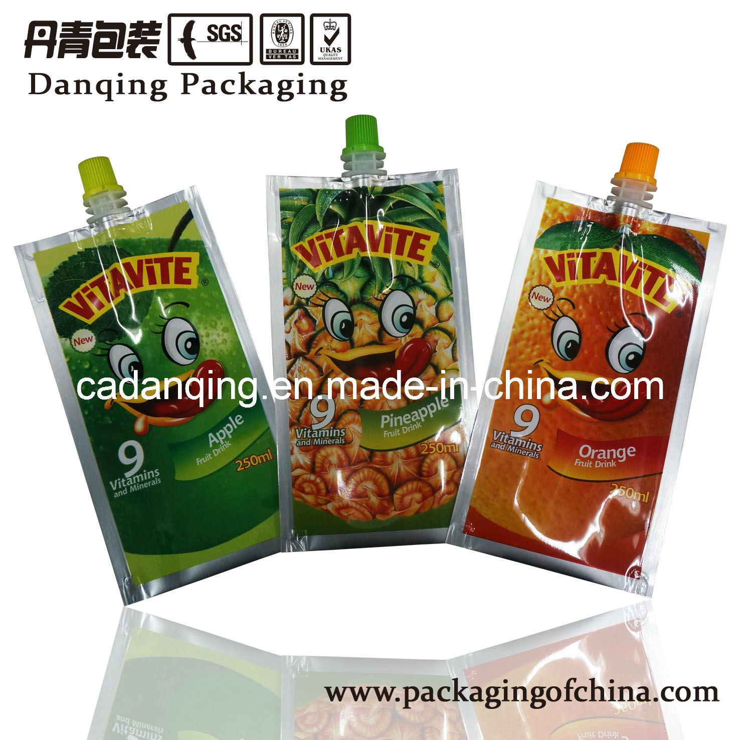 Fruit Juice Spouted Sachet, Aluminum Packaging