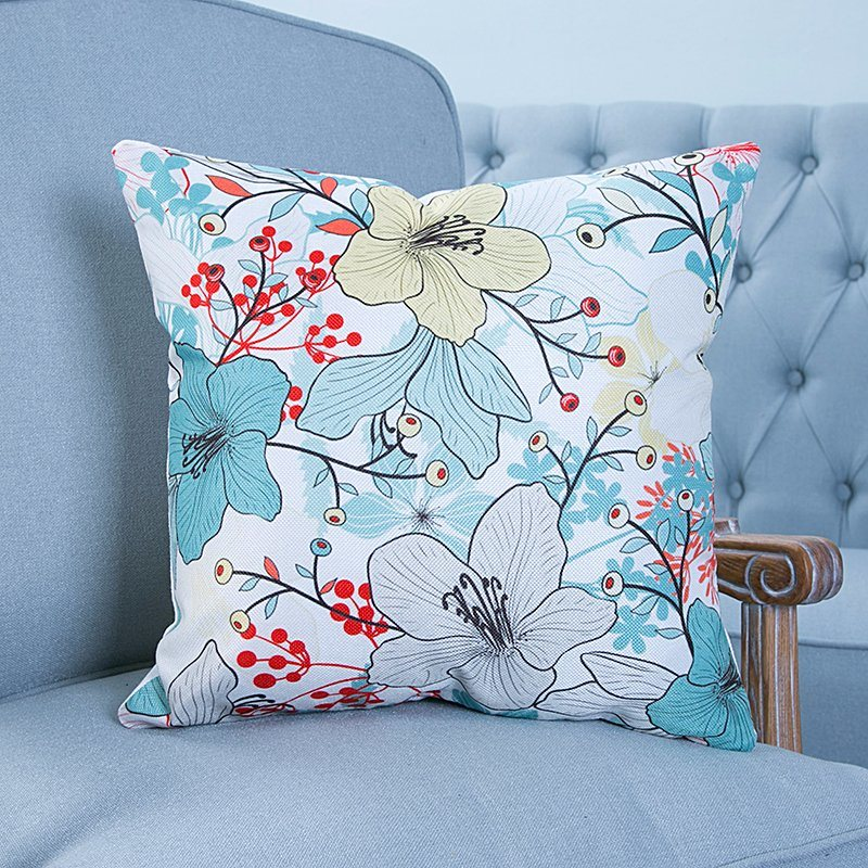 Digital Print Decorative Cushion/Pillow with Botanical&Floral Pattern (MX-21)