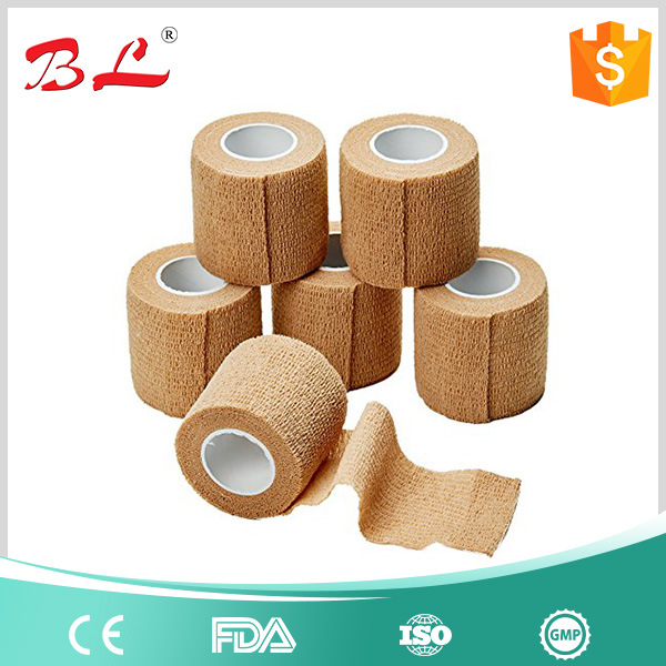 "2""X5yd Tan Flesh Cohesive Bandage Self Adherent Elastic Wrap Latex"