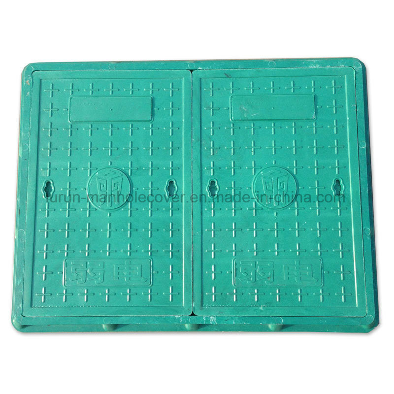 Heavy Duty En124 Double Piece Square Composite Manhole Cover
