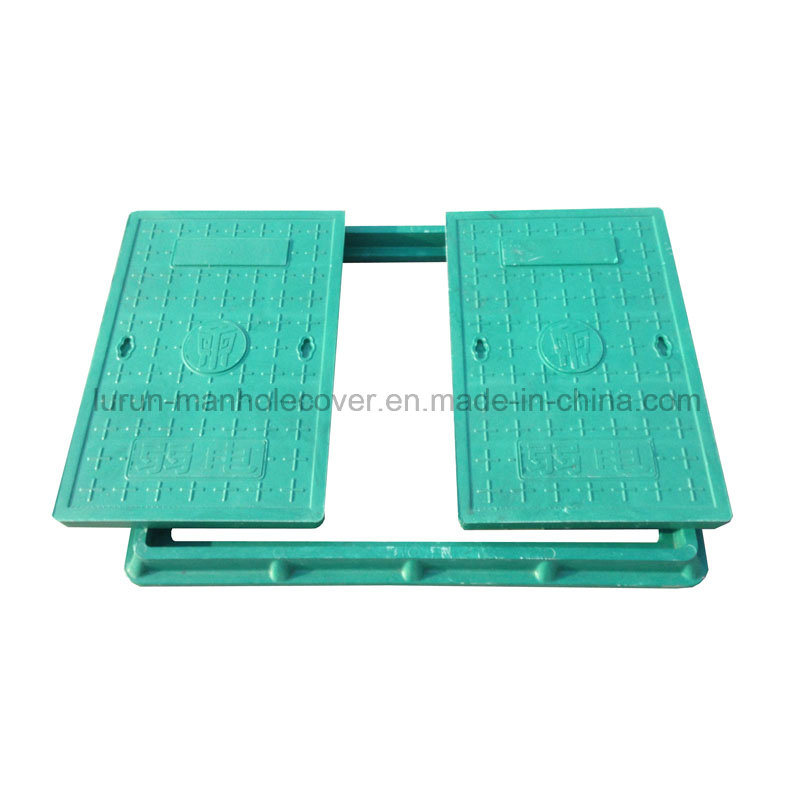 Heavy Duty En124 Double Piece Square Composite Manhole Cover