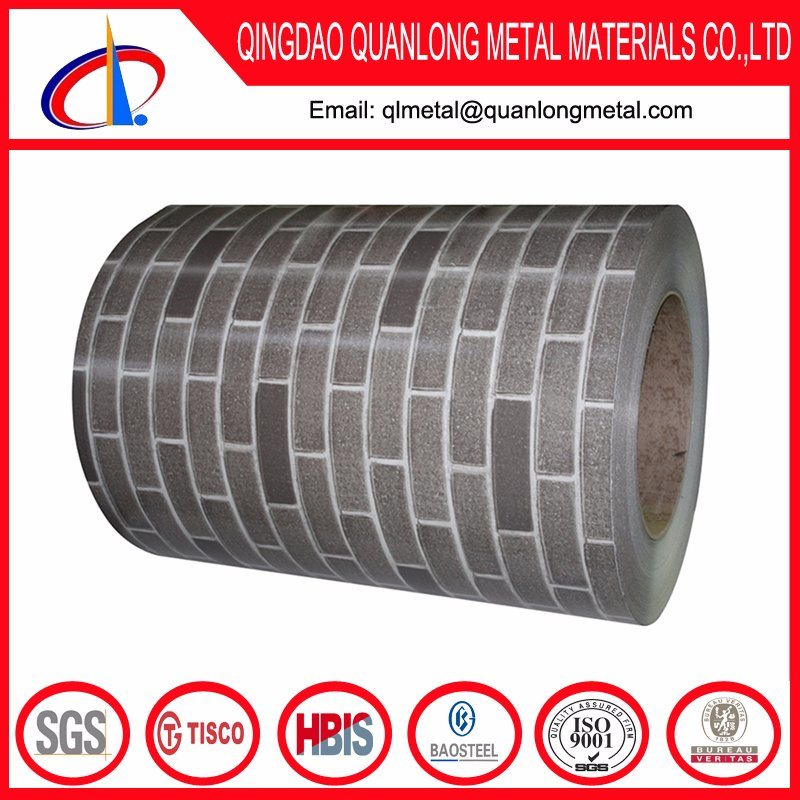 Gray Red Brick Pattern Printing PPGI Steel Coil