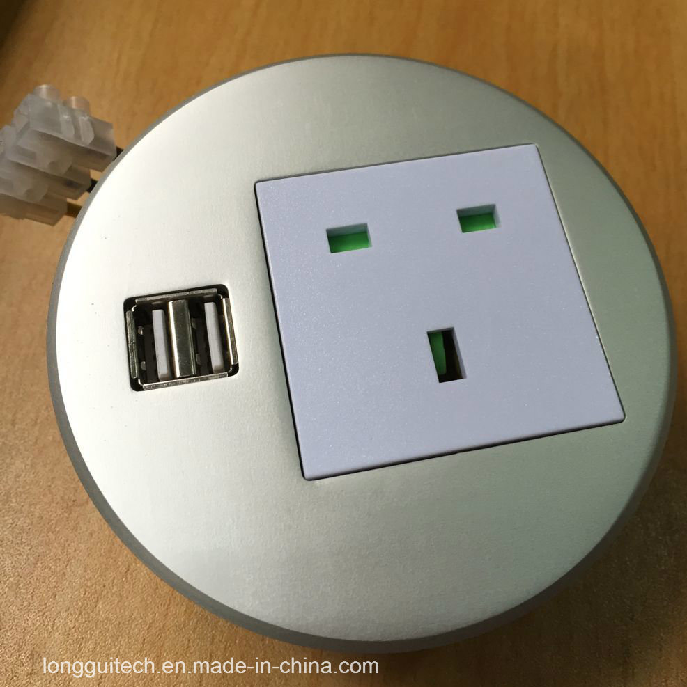 Round Socket Desktop Socket with USB Charger Lgt-810