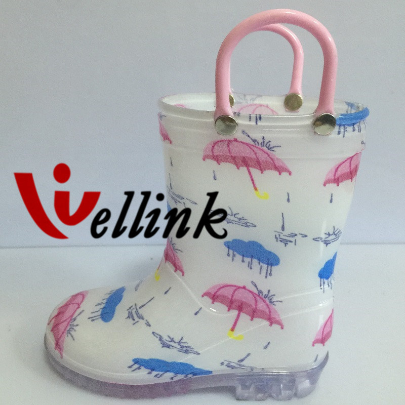 Children Fashion Style Rubber Rain Boots