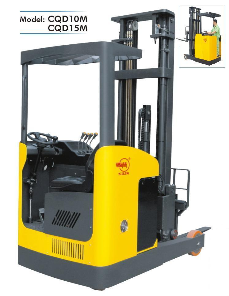 China reach lift truck electric forklift cqd10m china Motorized forklift
