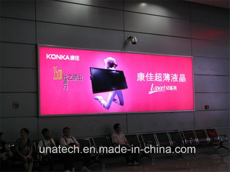 Wall Mounted LED Banner Ads Aluminium Frame Light Box