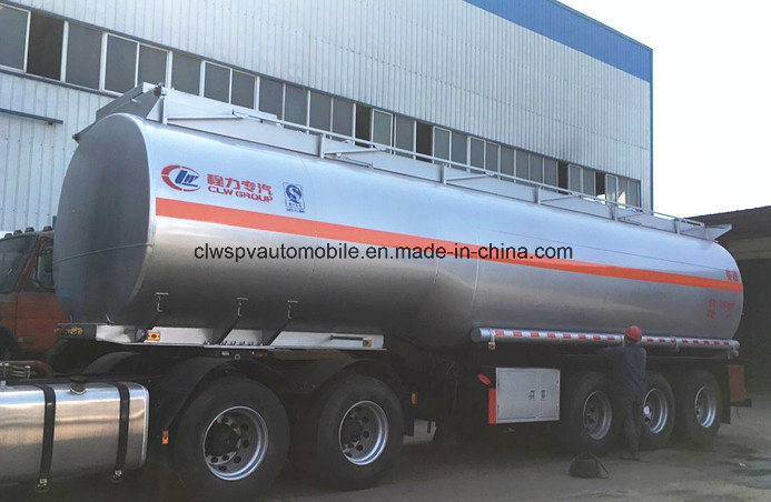 3 Axles Crude Oil Steel Semi Trailer 40000 L Fuel Tanker Peice