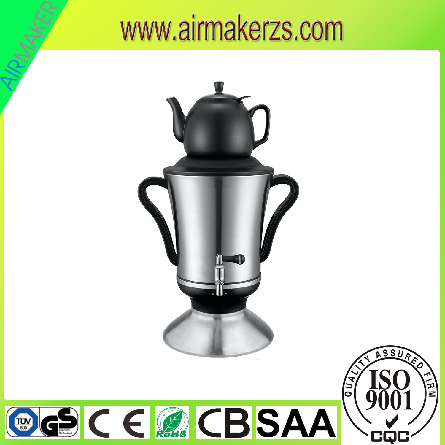 3.2L Household Stailess Russian Samovar with Teapot