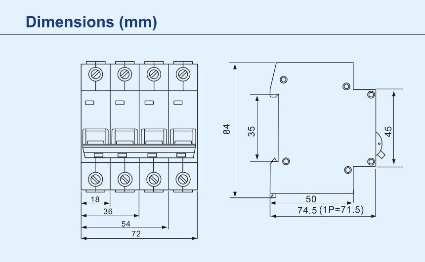 Mini Vacuum Circuit Breaker Dz47-63 (With Indicator) Overcurrent Protection