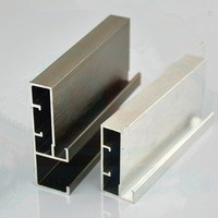 Aluminium Kitchen Glass Handle Profile Powder Coating, Thermal Break, Anodizing, Silver Polishing, Golden Polishing