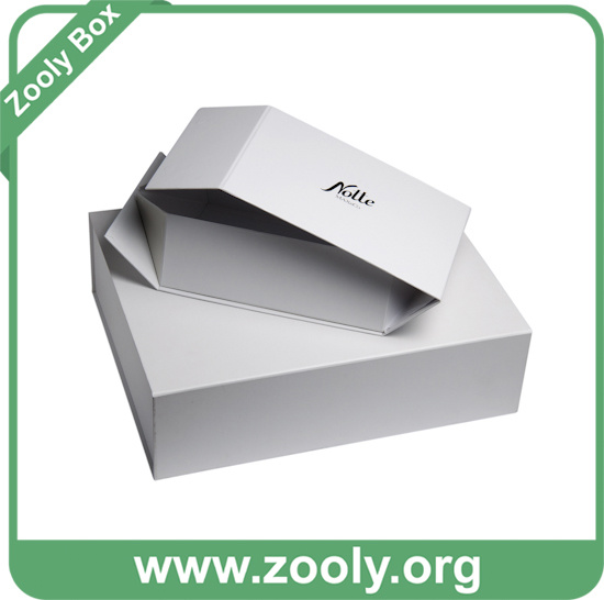 Custom-Made White Cardboard Paper Folding Keepsake Boxes