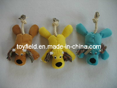 Pets Dogs Rope Toy Tug Chew Squeaky Animal Product