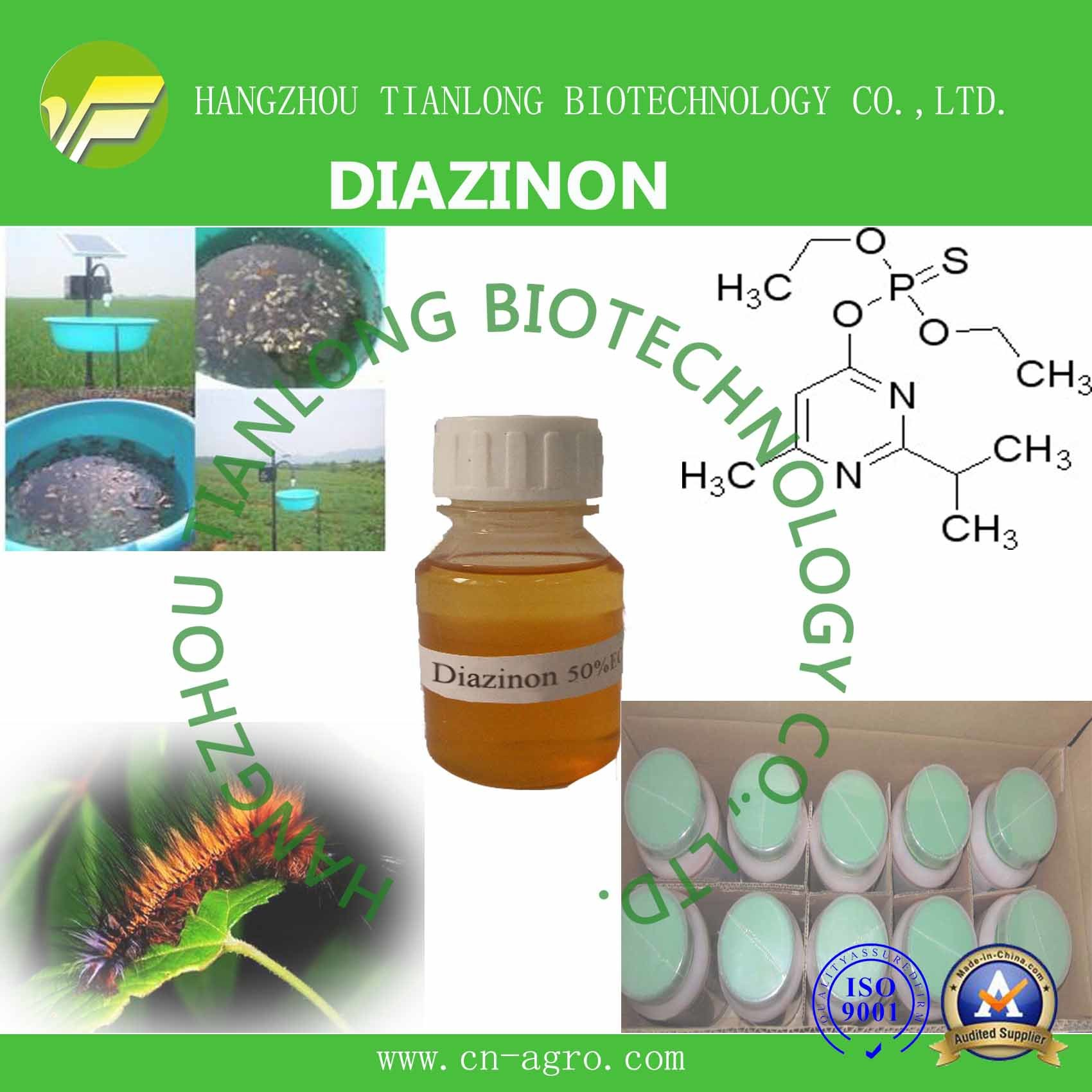 Highly Effective Insecticide Diazinon (95%TC, 50%EC, 60%EC, 50%EW, 40%WP. 5%G, 10%G)