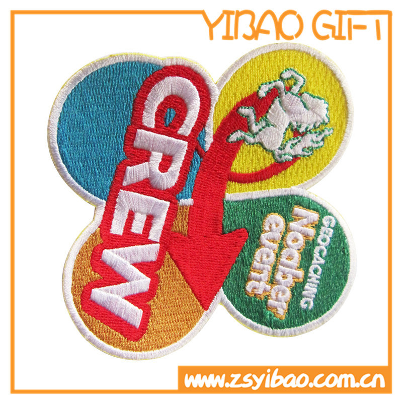 Custom Logo Embroideried Flower Patch for Promotion Gifts (YB-pH-05)