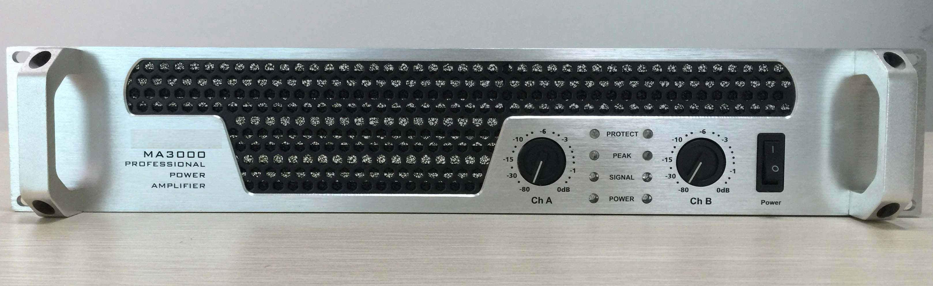 2 Channels Professional Power Amplifier, 2u Standard Cabinet (Silver color board)