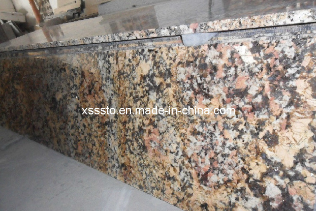 Countertop Yellowing : China Crystal Yellow Granite & Marble Kithen Countertop Photos ...