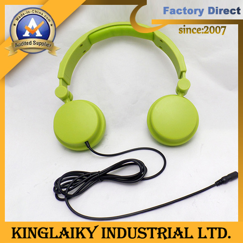 Flat Cable Foldable Earphone for Promotional Gift (KHP-012)