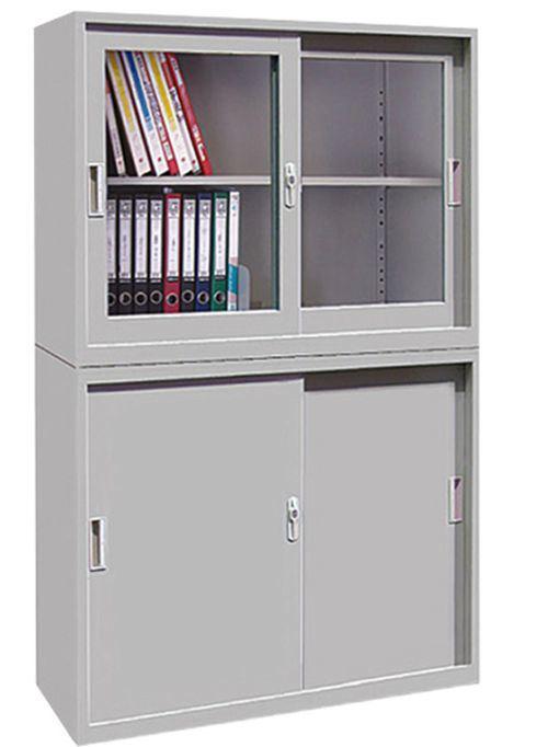4-Door with Glass Windows Steel Office Filing Cabinet