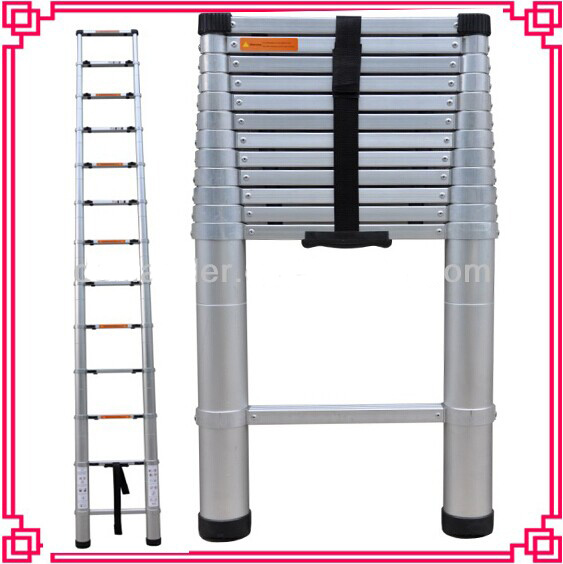 New Design All Aluminum Material Telescopic Step Ladder