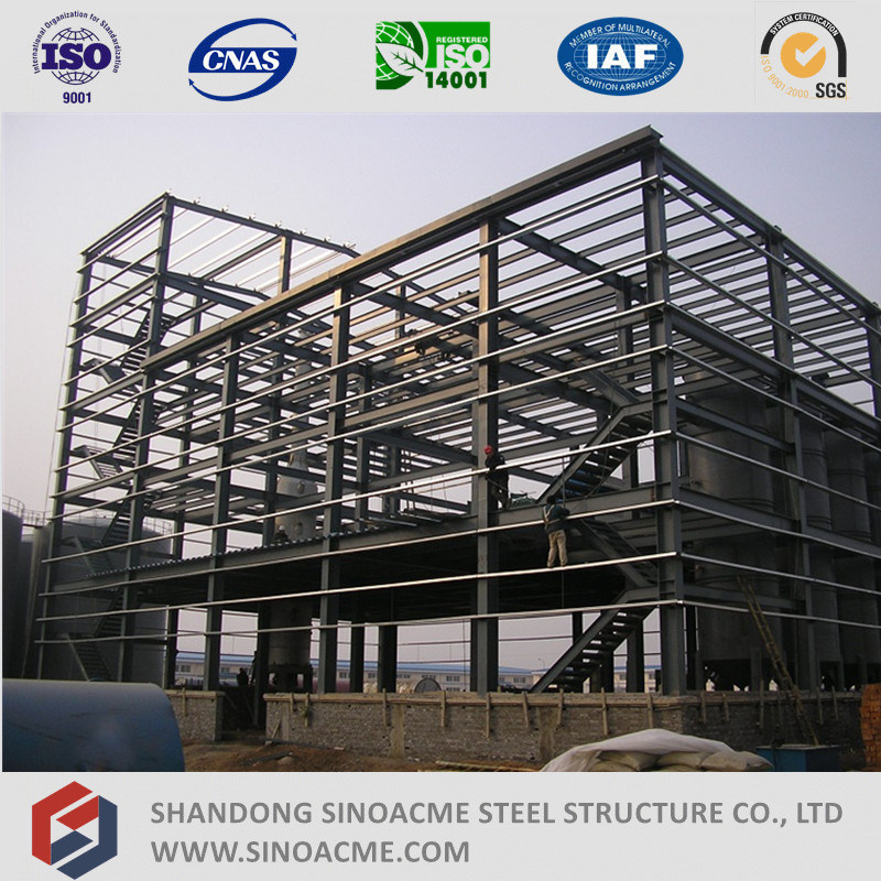 Multi Story Steel Frame Workshop Fabrication