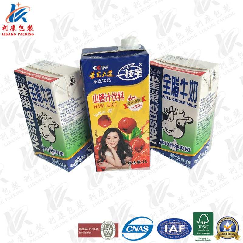 1L Aseptic Packaging Material with Heli Cap