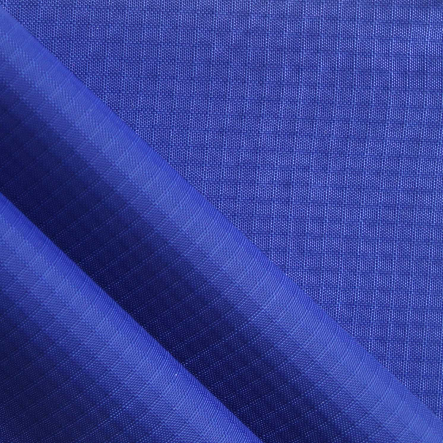 Waterproof Double-Yarn Ripstop Diamond Nylon Fabric with PU