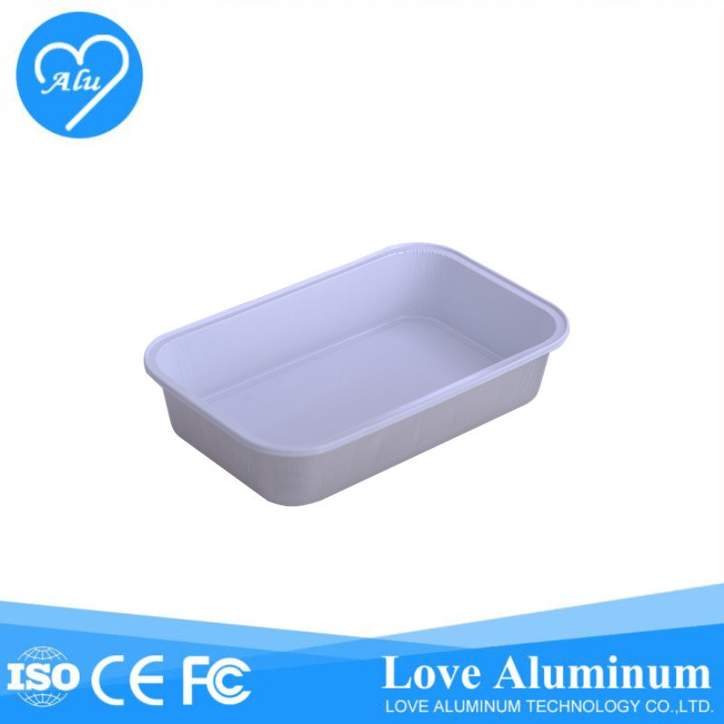 Coated Disposable Aviation for Inflight Catering Aluminum Foil Container