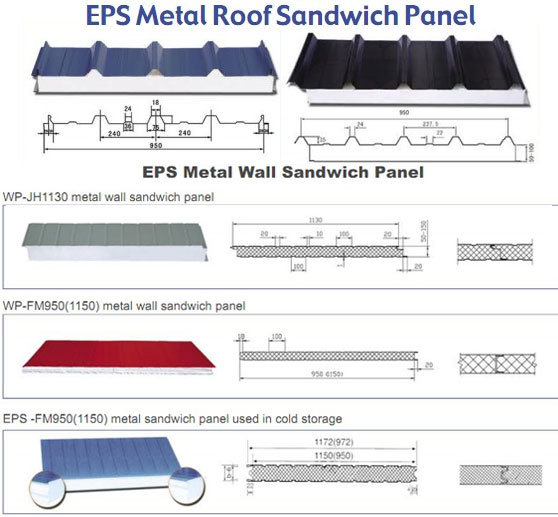 China Eps Metal Roof Sandwich Panel China Eps Metal Wall