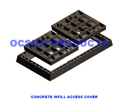 Multi-access Covers Concrete Infill Class D