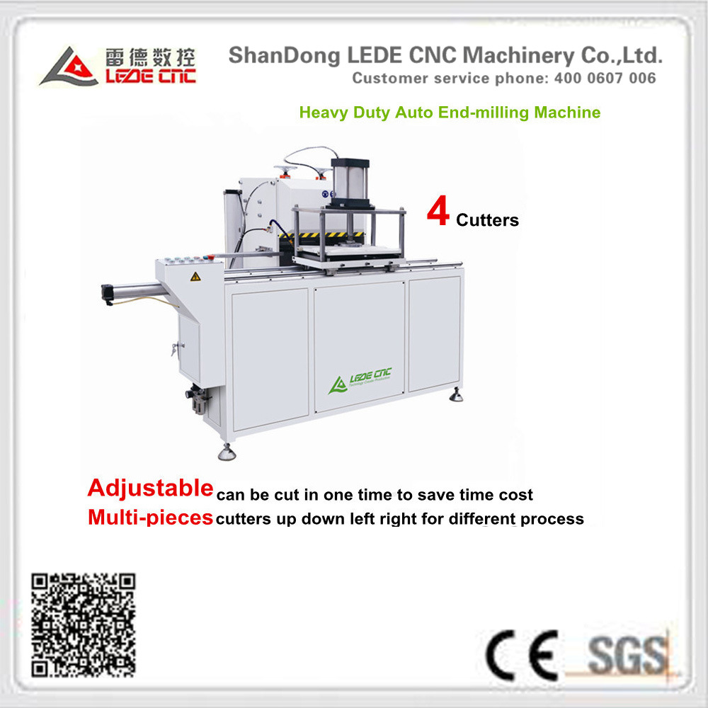 Window Machine Heavy Duty Auto End-Milling Machine 4 Cutters
