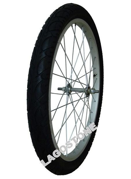 22インチの自転車の車輪