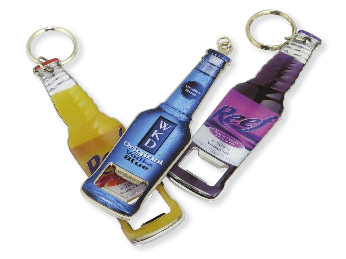 bottle shape bottle opener with key chain photos pictures. Black Bedroom Furniture Sets. Home Design Ideas