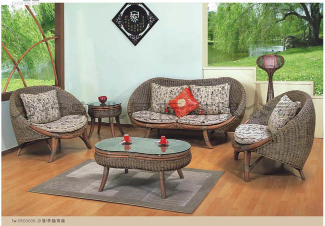 living room rattan furniture folat