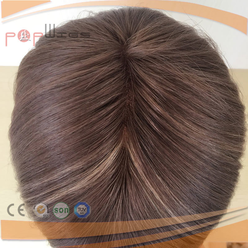 Human Hair Coated Poly Back Mens Toupee System, Hair Piece