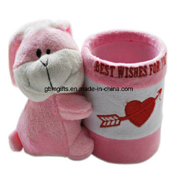 High Quality Hot Sale Factory Direct Wholesale Soft Comfort Plush Toy Pen Container for Kids