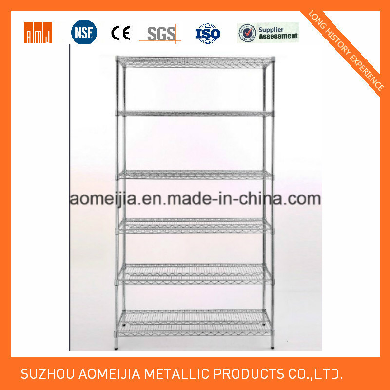 High Quality Anti Rust Wire Shelving with Chrome Finish