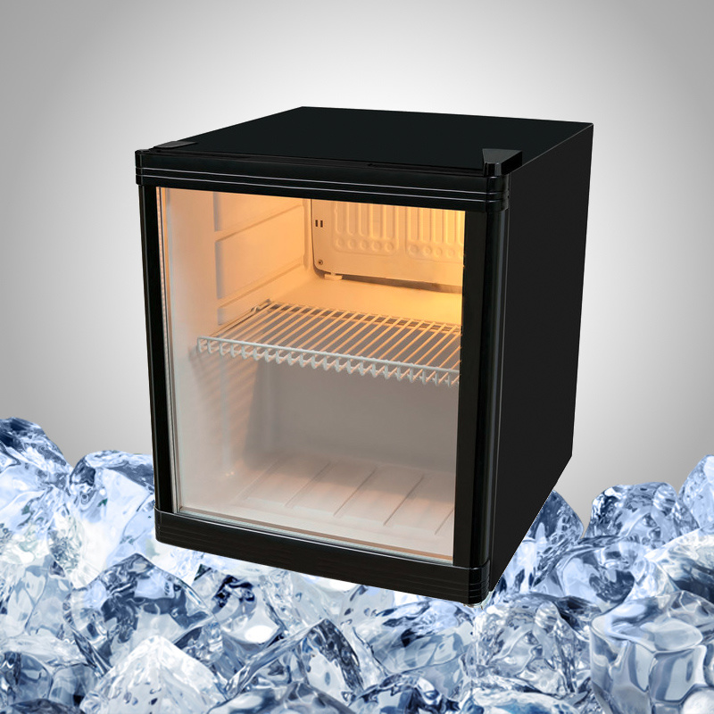 Display Mini Bar Fridge with Glass Door for Drink