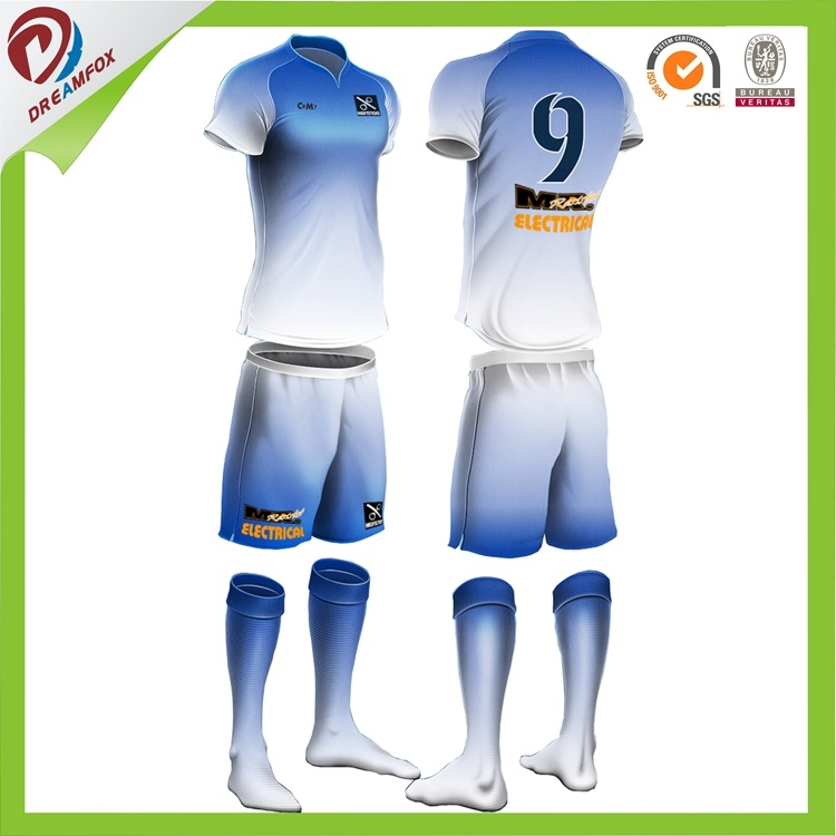 2017 Breathable Sublimation Custom Cheap Kid Football Shirt Maker Kids Soccer Jersey
