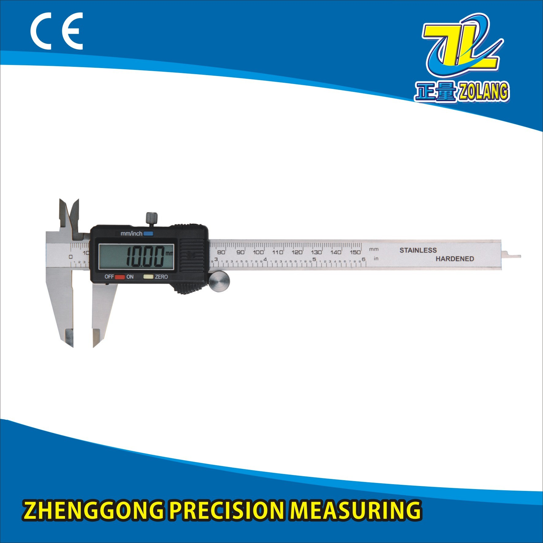 Large LCD Industrial-Grade Stainless Steel Digital Display Calipers Measuring Tool