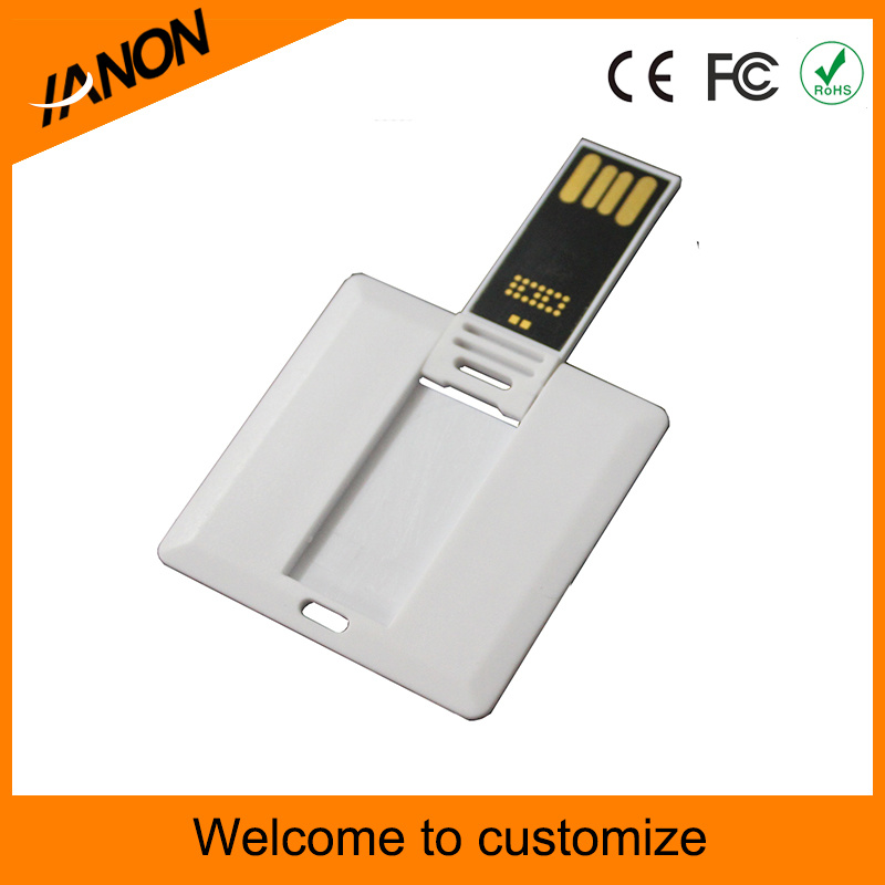White Squre USB Flash Drive with Full Color Printing