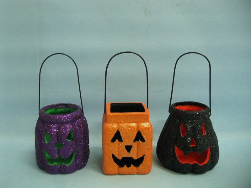 Halloween Pumpkin Ceramic Arts and Crafts (LOE2379-9.5z)