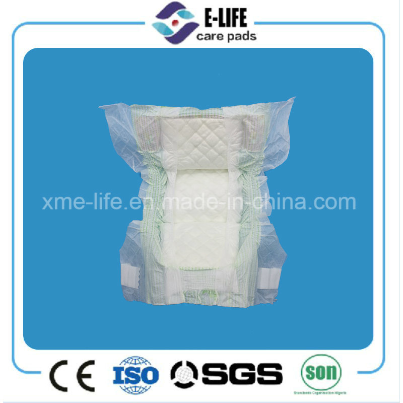 Disposable Elastic Waist Magic Tape Baby Diaper with Competitive Price
