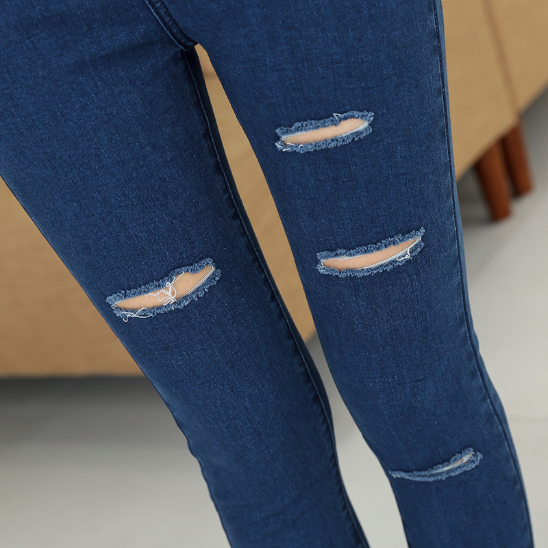 2017 Hot Style Ladies Slim Jeans with Hole