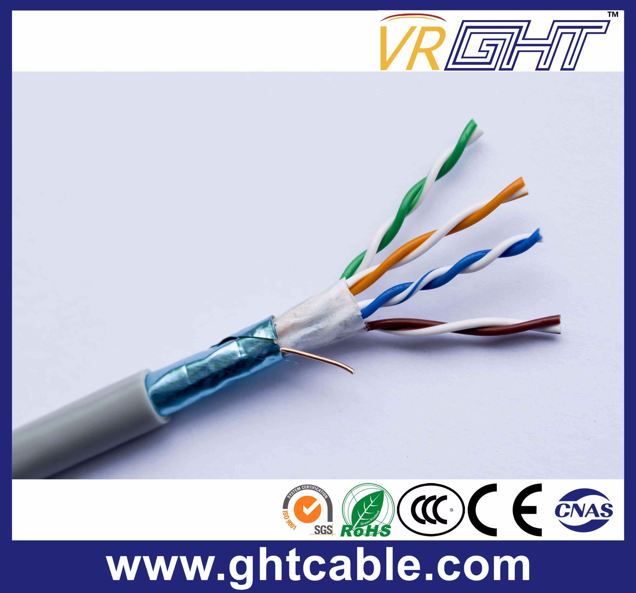 Indoor Cat5/ Cat5e FTP 24AWG Copper Conductor Network Cable