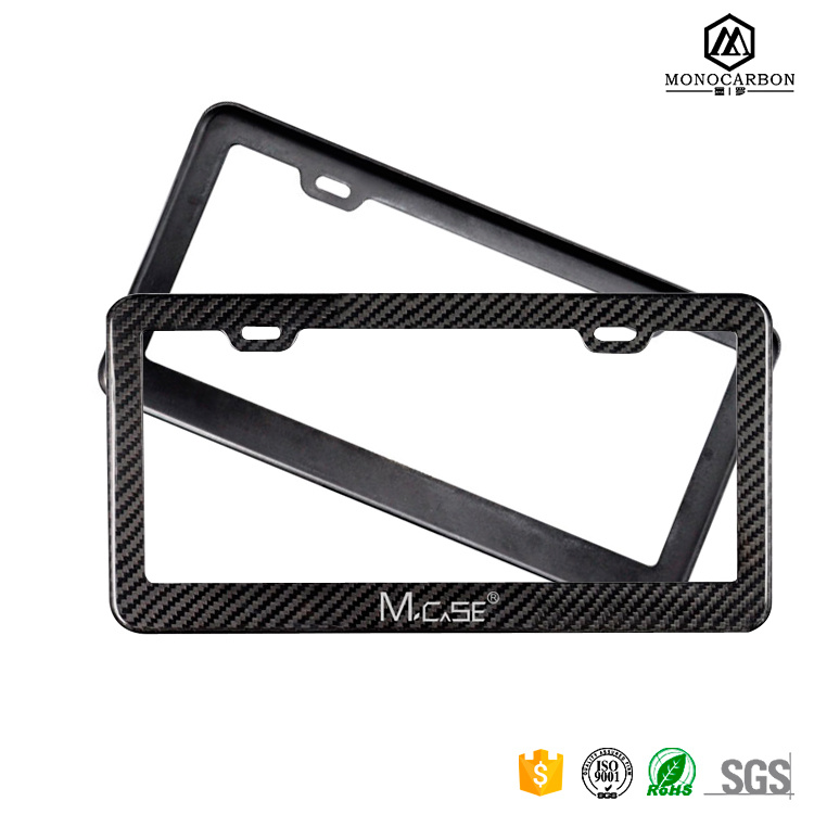 Custom Deluxe Ultra Thin Real Pure 100% Carbon Fiber Matte License Plate Frames Wholesal